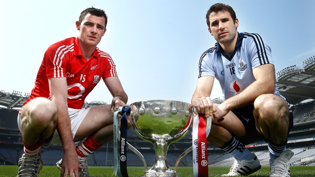 Donncha O'Connor of Cork and Brian Cullen of Dublin - set for final clash