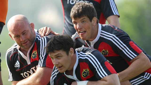 John Hayes, David Wallace and Donncha O'Callaghan - trio will all start on Saturday, with Wallace set to win his 200th cap