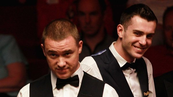Mark Selby (right) - Has potted six century breaks in his last 16 match with Stephen Hendry (left)