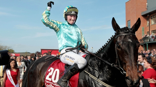 Nina Carberry pictured celebrating her Irish Grand National win on Organisedconfusion