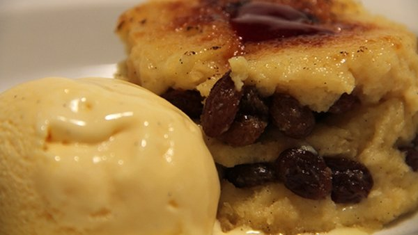 Bread and Butter Pudding with Whiskey Soaked Raisins: The Restaurant
