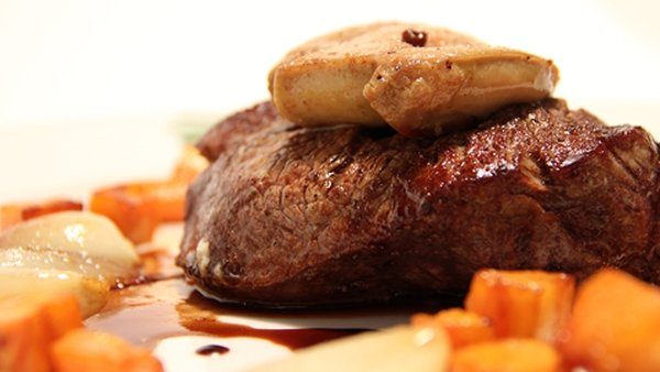 Organic Angus Beef with Sweet Potatoes and a Red Wine Jus: The Restaurant
