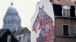 There are over 40 comic strip murals around Brussels Pic: Daniel F