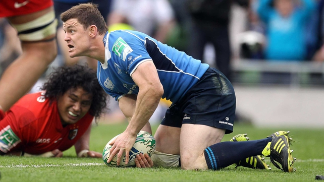 Brian O'Driscoll's second-half try was crucial for Leinster