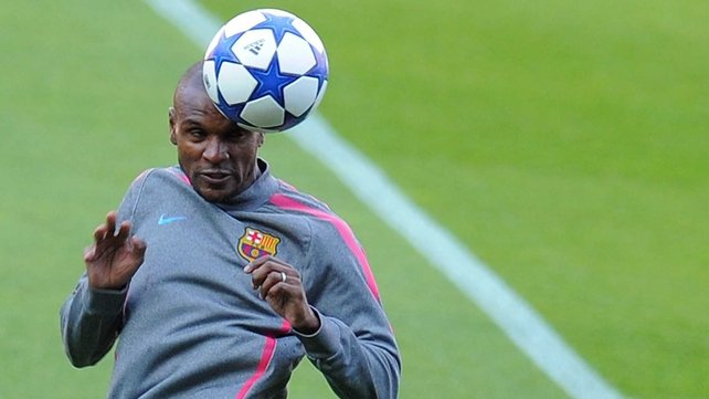 Eric Abidal has returned to training with Barcelona
