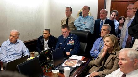 Barack Obama watches the operation to kill Osama bin Laden