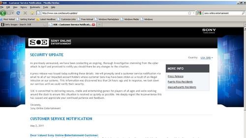 Sony Ericsson's Canada site hacked