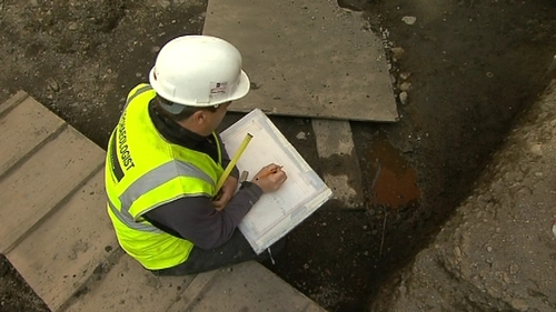 Excavations carried out at Meeting House Square