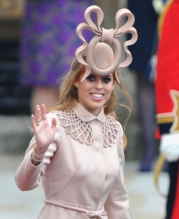 Princess Beatrice wearing Philip Treacy's design