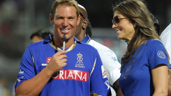 Shane Warne - The Aussie legend, pictured here with girlfriend Liz Hurley, is calling time on his cricket career