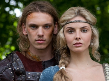 Jamie Campbell Bower as Arthur & Tamsin Egerton as Guinevere