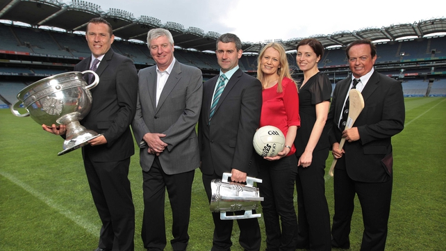 Croke Park - Ciaran Whelan, Michael Lyster, Liam Sheedy, Clare McNamara, Joanne Cantwell and Marty Morrissey at GAA HQ for the launch