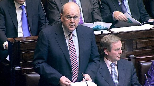 Michael Noonan - Announced measures in Dáil today