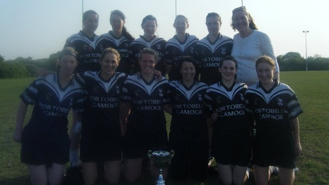 The victorious Portobello Camogie 7s team