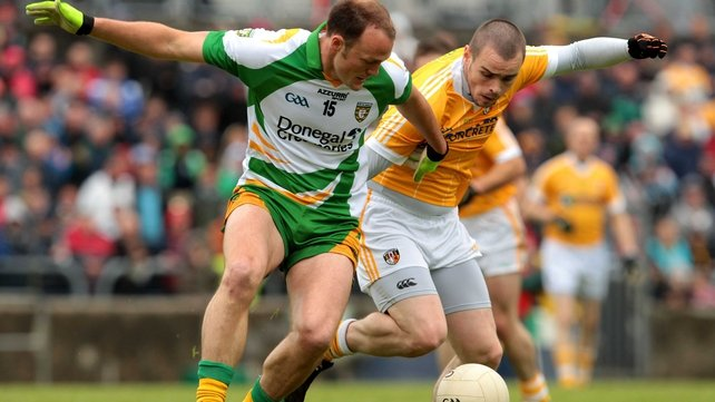 Donegal led by 0-06 to 0-03 after a poor first half