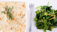 Students' Fish Pie with Potato Topping (Gluten Free) - A real go-to recipe.