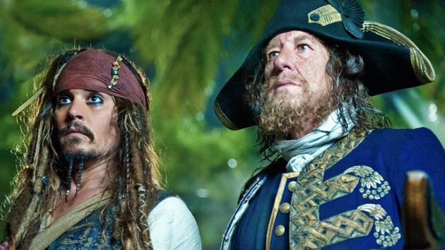 Pirates of the Caribbean stars Johnny Depp and Geoffrey Rush