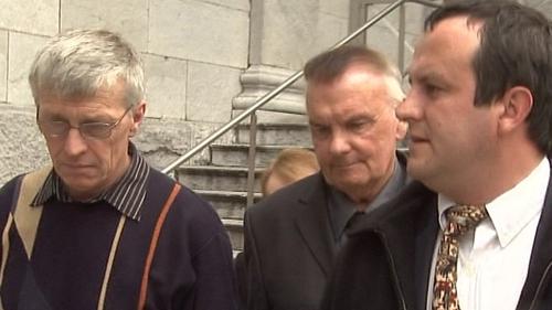 Dan Duane (centre) - Retired priest denies assault charge