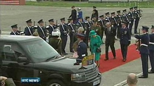 Nine News: Britain's Queen arrives for symbolic state visit