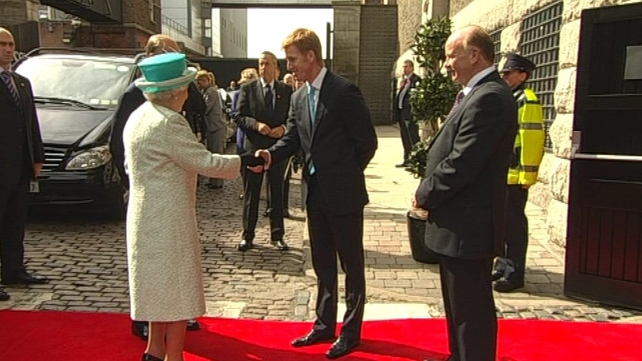 Queen Elizabeth II - Arrived for tour of Guinness Storehouse