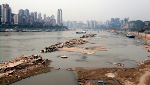 China - drought continues to drain output of hydroelectricity