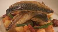 Mackerel with Warm Potato and Chorizo Salad - Another quick cook delight.