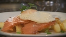 Smoked Salmon with Fried Egg and Home Fries