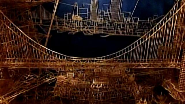 Sculpture - The Golden Gate bridge in toothpicks
