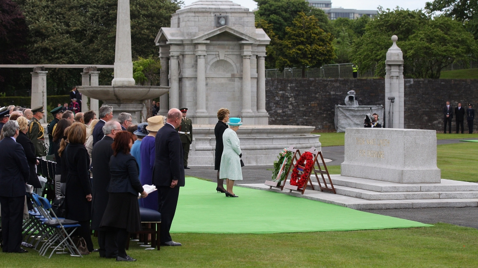 The ceremony was described by NI First Minister Peter Robinson as a 'very significant moment in Irish history'