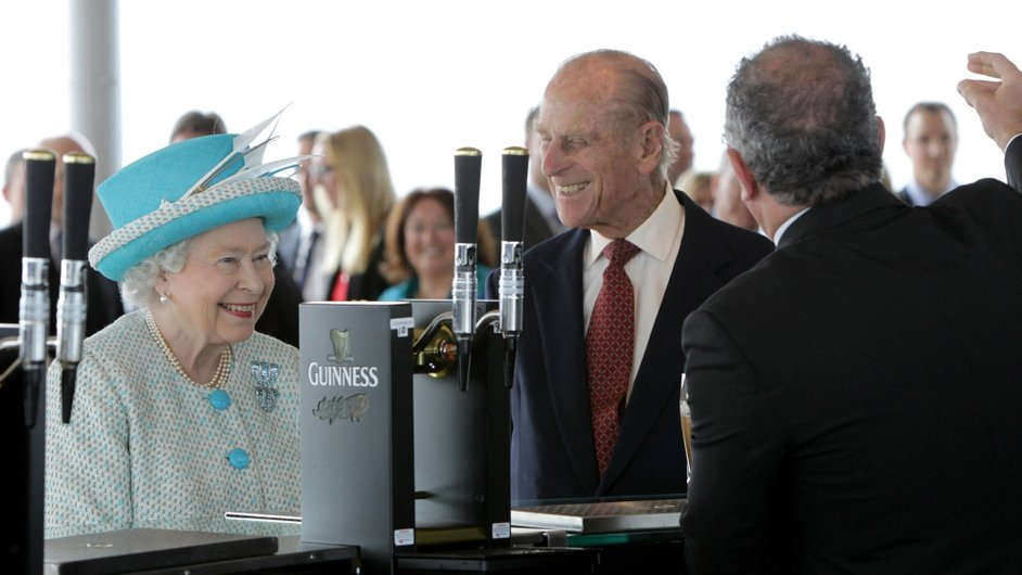 The Queen and Prince Philip enjoyed at tour of the Guinness Storehouse