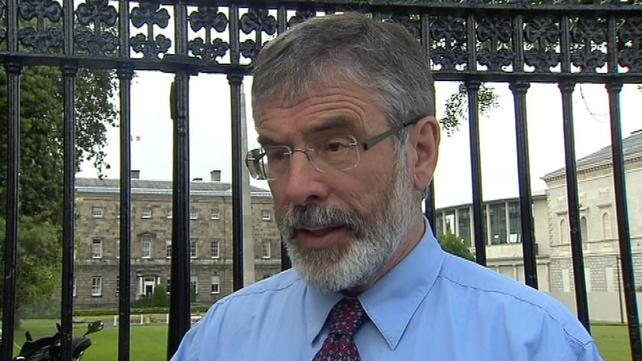 Gerry Adams was speaking ahead of resumption of Dáil