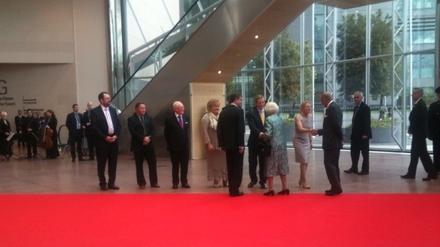 Enda Kenny greets Queen Elizabeth II (Pic: Ailbhe Conneely)