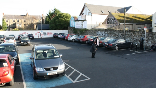 The car park which used to be a coalyard, the Summer location of the Roadshow
