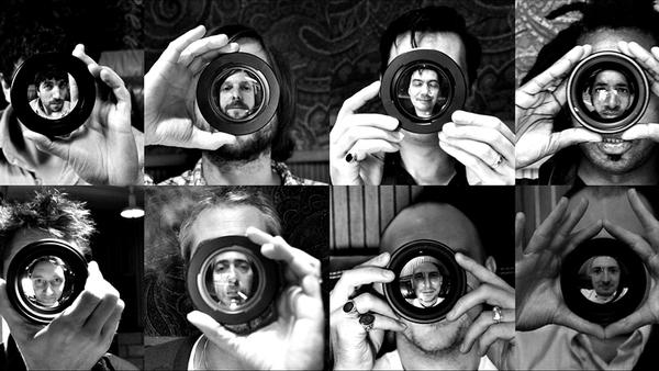 Tindersticks - Stuart Staples bottom row, second left Photo: Neil Fraser