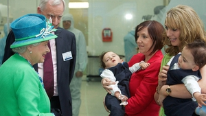 The Queen met the Benhaffaf twins who underwent surgery to separate them at Great Ormond Street Hospital in London