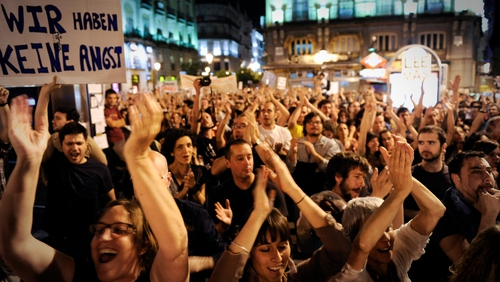 Madrid - An estimated 20,000 on the streets