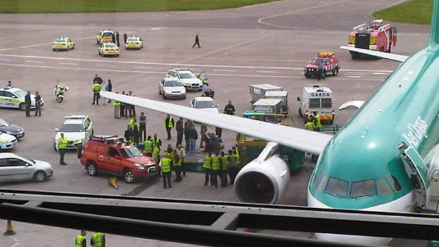 Cork Airport - Man was finally subdued (Pic: John Peavoy)