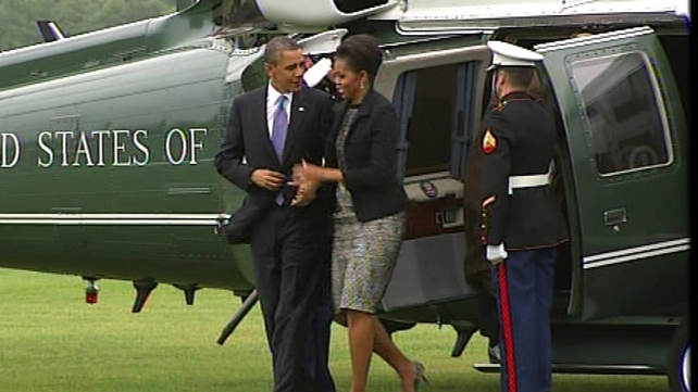 Barack & Michelle Obama - At the Phoenix Park ahead of meeting with President Mary McAleese