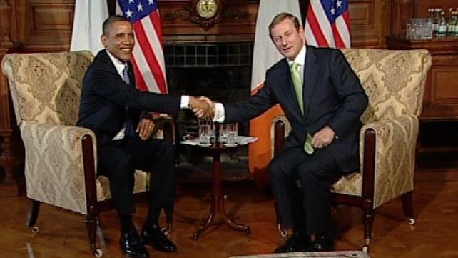 Barack Obama & Enda Kenny - Talks at Farmleigh House