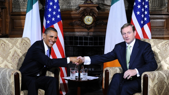 Barack Obama and Enda Kenny discussed a range of issues