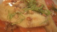 Gurnard with Glazed Carrots, Lime Butter and Toasted Pine Nuts - Serve the fish with a drizzle of the sauce.
