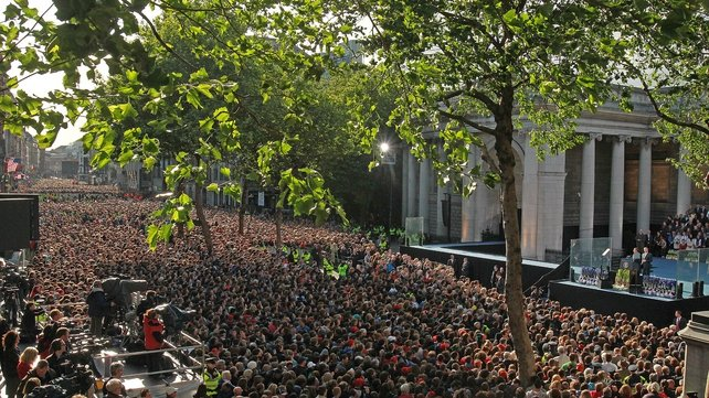 College Green - Bulk of costs to do with public address in Dublin