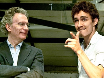 Fintan O'Toole with Robert Sheehan