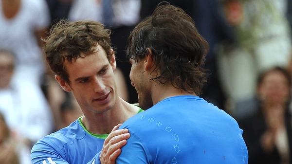 Andy Murray and Rafa Nadal - The Scot played well, but still found himself dominated