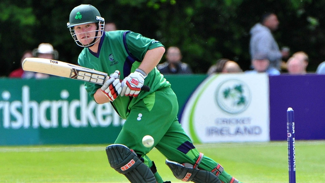 Paul Stirling was due out first for Ireland but rain scuppered the day's play