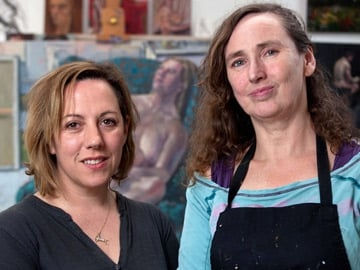 Art critic Gemma Tipton and artist Una Sealy