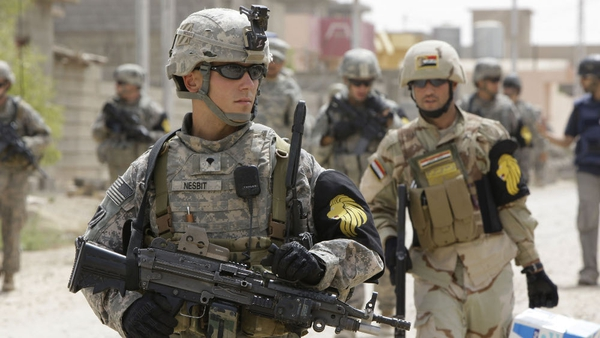 Troops - US in talks with Iraq about retaining troops after a formal withdrawal