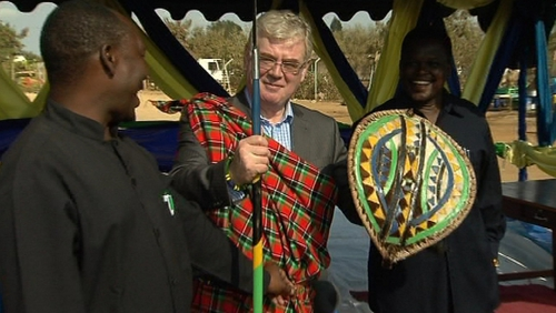 Eamon Gilmore - Was made an honorary member of the Maasai tribe in Tanzania