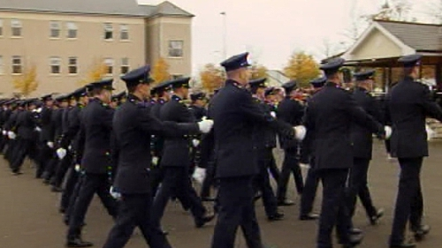 It takes two years before a recruit becomes a fully-trained garda
