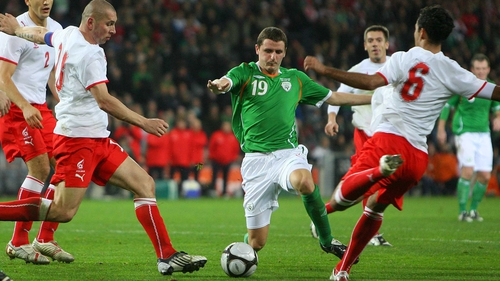 Alex Bruce in action for IReland